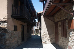 Ancient street. The Village Of Kakopetria. Stock Photos