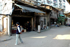 Ancient street of Yuanjiang Royalty Free Stock Photo