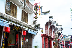 Ancient street(Chinese building Huizhou architecture) Stock Photos