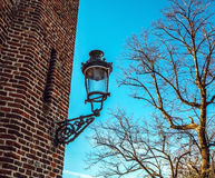 Ancient streetlight close-up photo Royalty Free Stock Photo