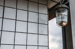Ancient streetlight close-up photo Royalty Free Stock Image