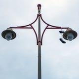 Ancient streetlight close-up photo Stock Images