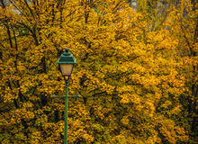 Ancient streetlight close-up photo Stock Images