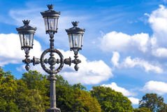 Ancient streetlight... Royalty Free Stock Image