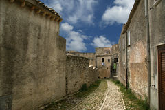 Ancient streets. Erice, Sicily, Italy Royalty Free Stock Photo