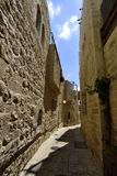Ancient streets in Old City of Jerusalem. Stock Images