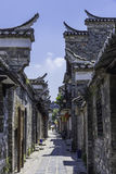 Ancient streets paved with rectangular stone plate royalty free stock photos