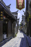 Ancient streets paved with rectangular stone plate royalty free stock photography