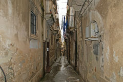 Ancient streets of Syracuse,  Sicily, Italy Stock Photography