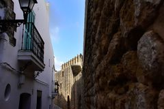 Beautiful ol town of Vejer de la Frontera, Spain Royalty Free Stock Photography