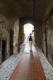 Ancient streets of ventimiglia Stock Photography