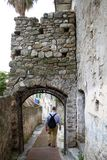 Ancient streets of ventimiglia Royalty Free Stock Photos