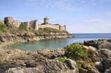 Ancient stronghold Fort la Latte Royalty Free Stock Photo