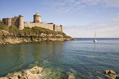 Ancient stronghold Fort la Latte Stock Photography
