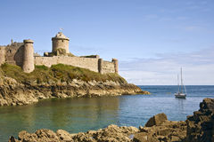 Ancient stronghold Fort la Latte Royalty Free Stock Photos