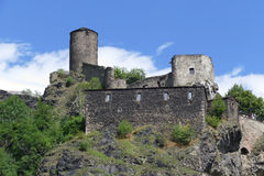 Ancient stronghold Strekov Royalty Free Stock Images