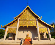 Ancient structure called Ho Kham Luang at the temple Stock Photo