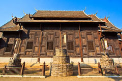 Ancient structure called Ho Kham Luang at the temple Royalty Free Stock Photos