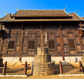 Ancient structure called Ho Kham Luang at the temple Stock Photos