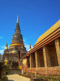 Ancient structure with old pagodas Royalty Free Stock Photos