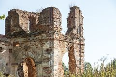 Ancient structure from an old red brick Royalty Free Stock Image