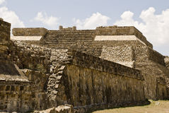 Ancient structure of stone in Monte Alban, Mexico Stock Photo