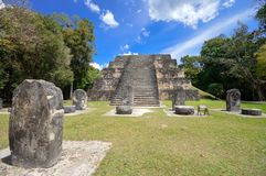 Ancient structure in Tikal National Park Stock Photo