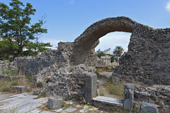 Ancient structures at Kos island in Greece Stock Image