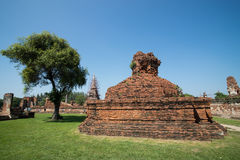Ancient stupa. In ayuthaya thailand Stock Image