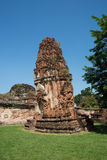 Ancient stupa. In ayuthaya thailand Stock Photos