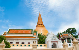 The Ancient stupa of phra pathom chedi Royalty Free Stock Photos