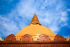 The Ancient stupa of phra pathom chedi Royalty Free Stock Photography