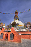 A ancient stupa and shrines kathmandu. A colorfull stupa and shrines kathmandu nepal Royalty Free Stock Photos
