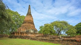 Ancient stupa. Thailand, Ayuthaya stock video