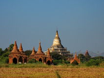 The ancient stupas in Bagan Royalty Free Stock Photos