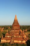 Ancient stupas and payas. In Bagan (Myanmar Royalty Free Stock Photo
