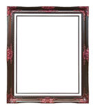 Ancient style brown wood photo image frame Royalty Free Stock Image