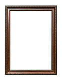 Ancient style brown wood photo image frame Stock Photos