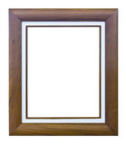 Ancient style brown wood photo image frame Royalty Free Stock Photography