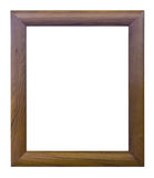 Ancient style brown wood photo image frame Stock Image