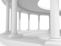 Ancient style column architecture design background Royalty Free Stock Image