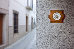 Ancient style doorbell button Stock Image