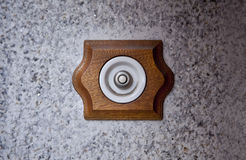 Ancient style doorbell button Royalty Free Stock Photos