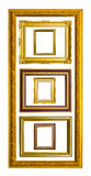 Ancient style golden photo image frame Royalty Free Stock Image