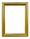 Ancient style golden photo image frame. Ancient style golden wood photo image frame isolated on white background stock photos