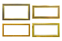 Ancient style golden photo image frame Royalty Free Stock Photo