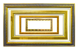 Ancient style golden photo image frame Stock Photo