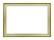 Ancient style golden photo image frame Royalty Free Stock Photography