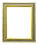 Ancient style golden photo image frame Royalty Free Stock Images