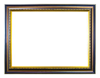 Ancient style golden photo image frame Stock Photography